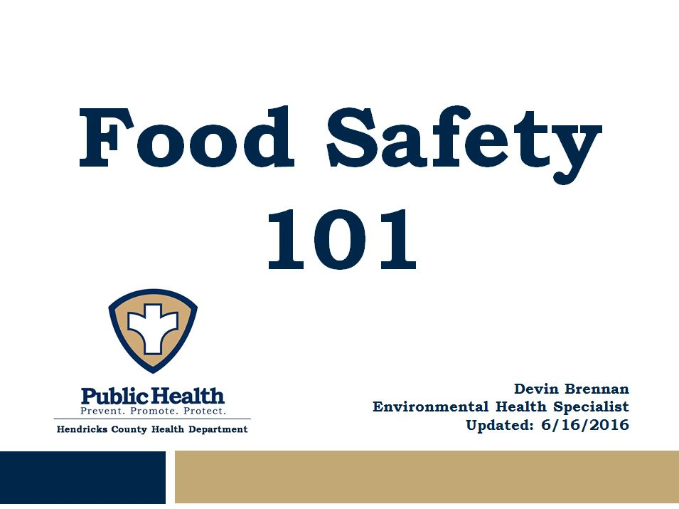 Food Safety 101 Presentation