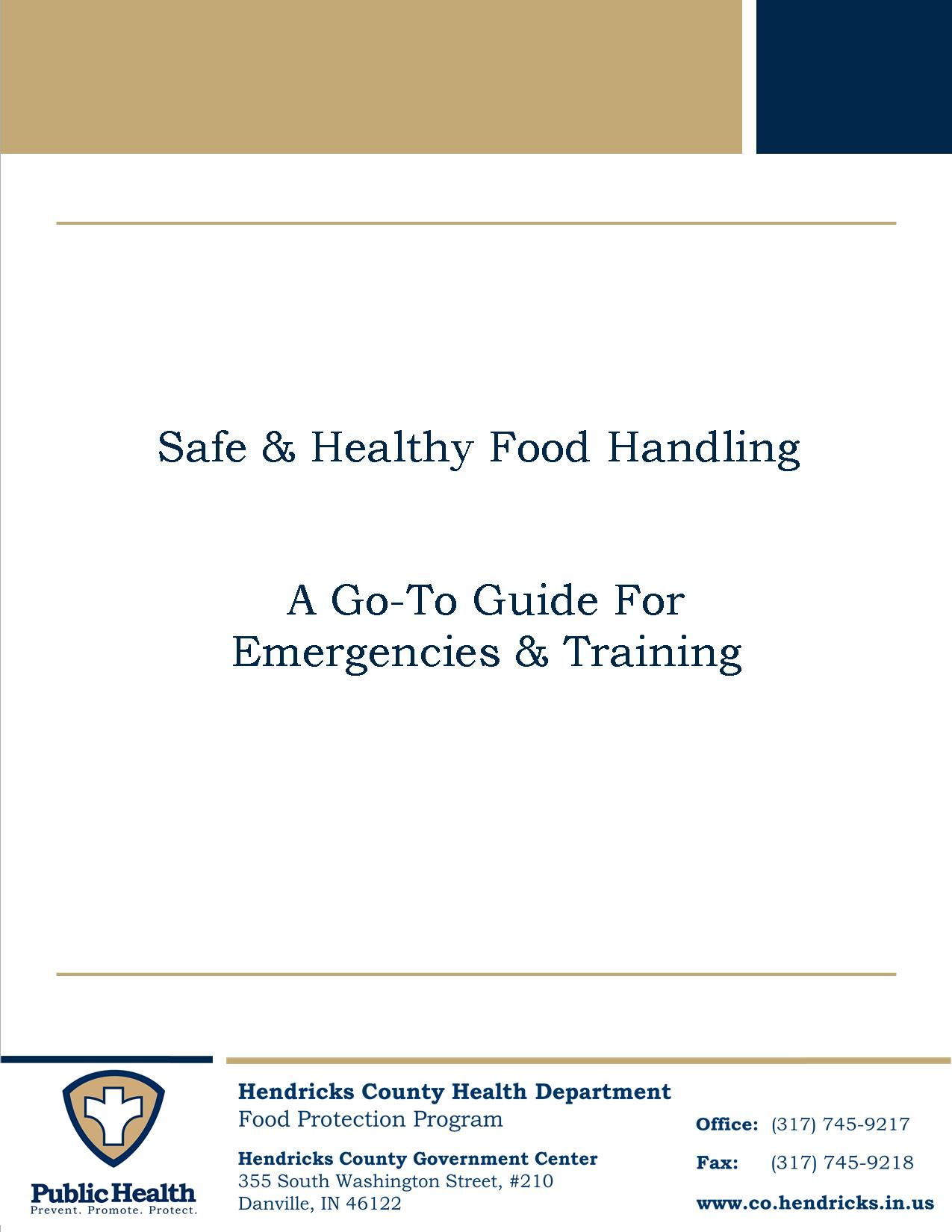 Safe and Healthy Food Handling Binder